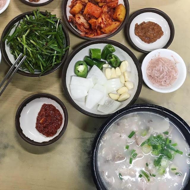 【旅遊】2018釜山必吃美食|推薦第一好吃|浦項豬肉湯飯|四天三夜自由行的美食地圖